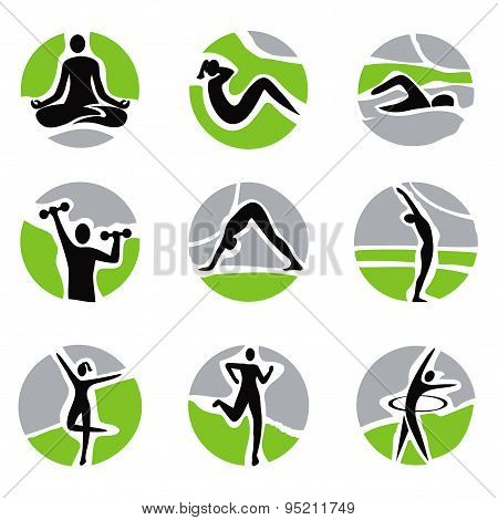Yoga Fitness Icons