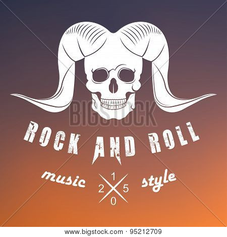 Illustration Vector Logo Of Rock Music