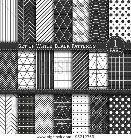 Big Set Of Black-white Pattern1