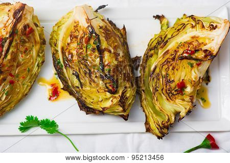 The Cabbage Baked On A Grill