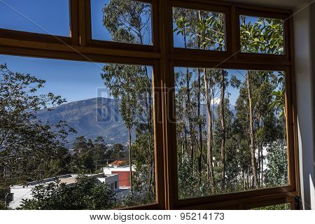 View Ilaló And Cotopaxi Volcano From The Window