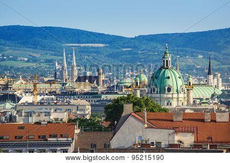 Vienna city skyline - Austria