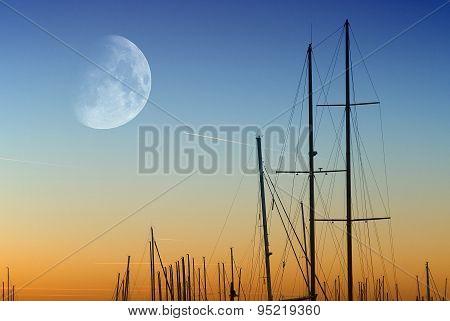Sunset On The Port