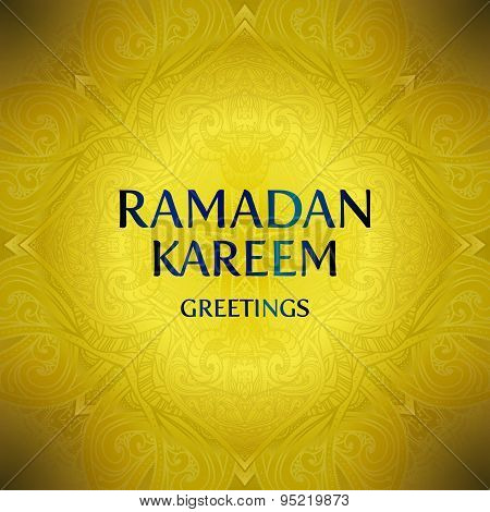 Ramadan Kareem greeting card background. Vector illustration.