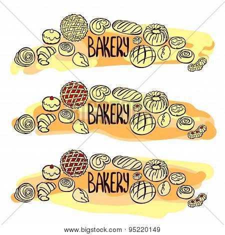 Bake bakery. Baking. Vector illustration