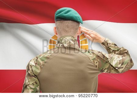 National Military Forces With Flag On Background Conceptual Series - French Polynesia