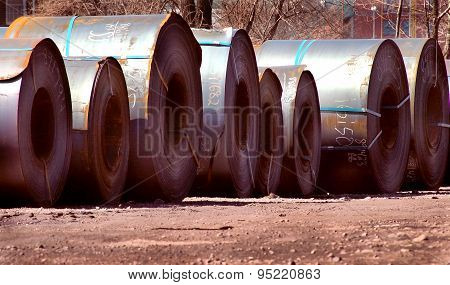 Steel Coil Shippng Outdoors