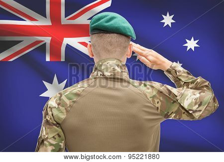 National Military Forces With Flag On Background Conceptual Series - Australia