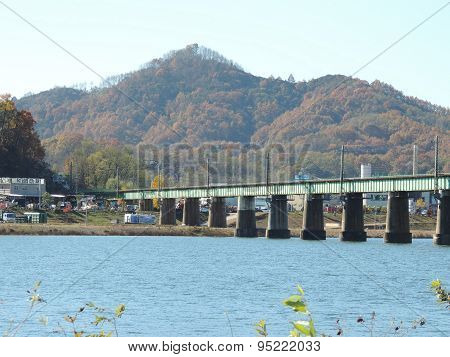 River, Bridge, and Mountain