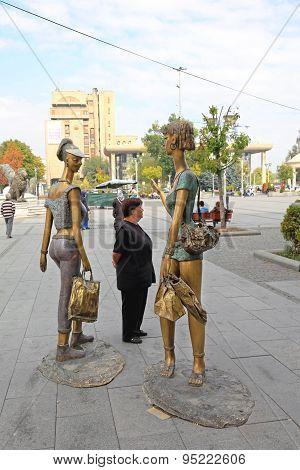 Kitsch Statues Skopje