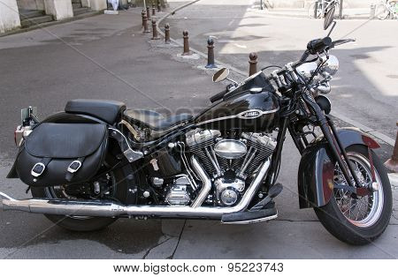 Harley Davidson Motorcycle Full View