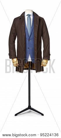Mens Suit Isolated On White With Clipping Path