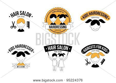 Kids hairdresser logo