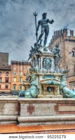 Triton Statue In Bologna In Hdr
