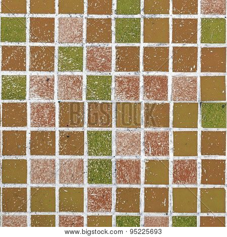 Abstract Background Ceramic Venetian Mosaics. Various Gradations Of Generated Abstract Pixel Pattern