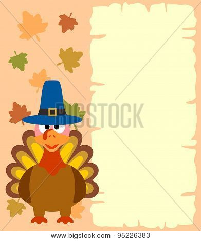 Thanksgiving  background with turkey