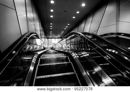 Interior Escalators And Stairs