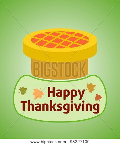 Thanksgiving day background with pie