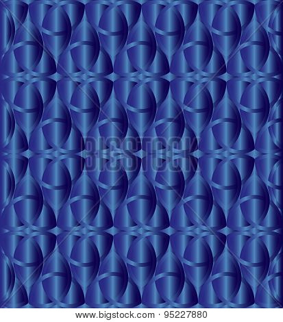 Blue Metallic Celtic Knot Background