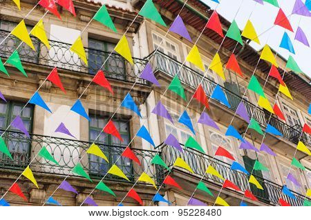 Bunting, colorful party flags