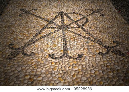 Wall Milan  In Italy Old   Church Concrete     Mosaic Stone