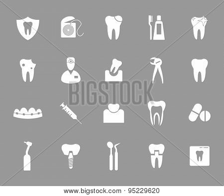 Dental icons.
