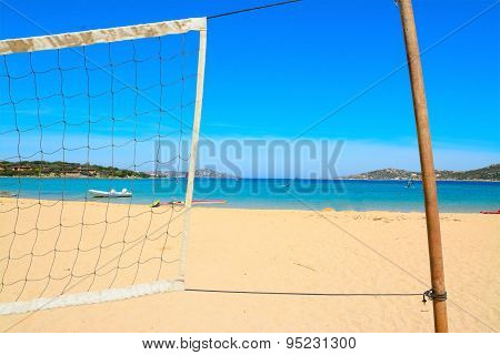 Beach Volley Net By The Sea In Porto Pollo