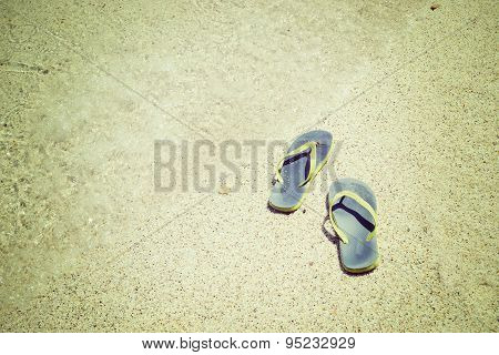 Flip Flops By The Shore