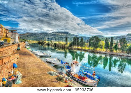 Temo River Under A Cloudy Sky In Hdr