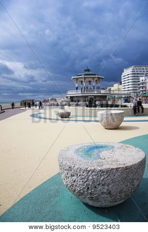 Brighton Beach Seafront Bandstand