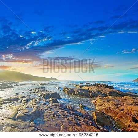 Colorful Sunset In Porto Ferro