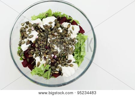 Plate With Beets Salad
