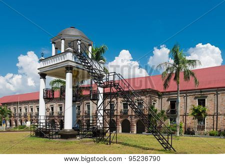elevated pavilion in front of the Naga metropolitan cathedral in Naga City Philippines