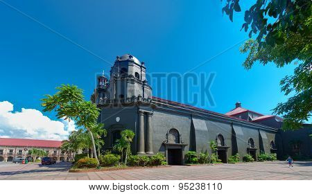 Naga Metropolitan Cathedral the oldest cathedral in the whole southern Luzon. It was built in 1573 and was inaugurated in 1575. It is originally known as the St. John the Evangelist Cathedral.