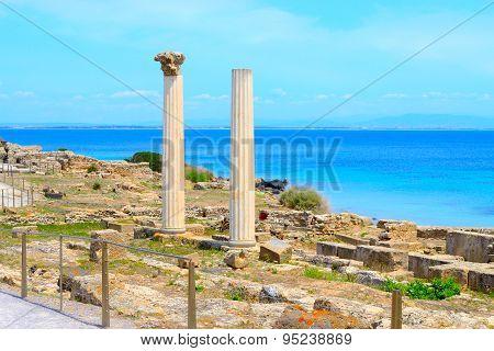 Tharros Columns By The Sea