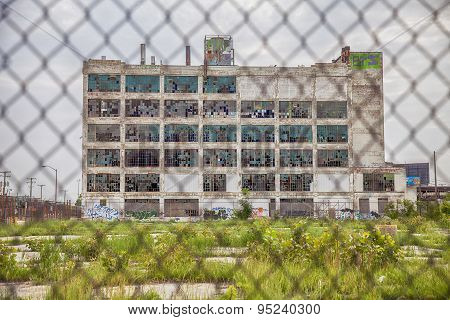 Fisher Body Works Factory With Fence