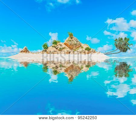 Atoll With Palms