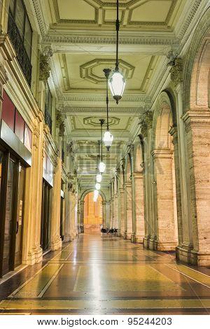 Arch Building On Piazza De Ferrari In Genoa, Italy