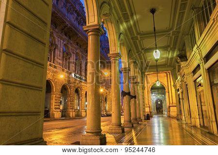 Building Near Piazza De Ferrari In Genoa In Italy