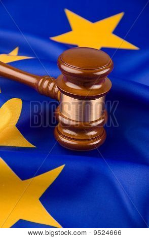 Gavel And Flag Europe