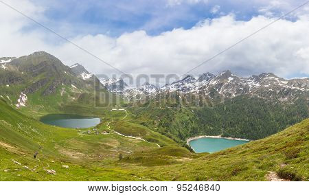 Lake Of Cadagno And Ritom In Ticino, Switzerland