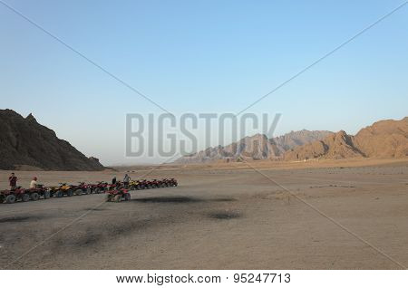 Quad trip on the desert near Sharm El Sheikh