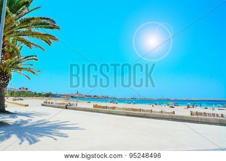 Alghero Shoreline Under A Bright Sun