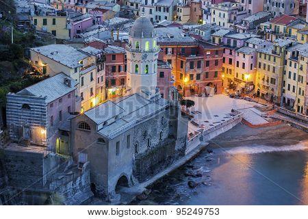 Vernazza In Cinque Terre Region In Italy