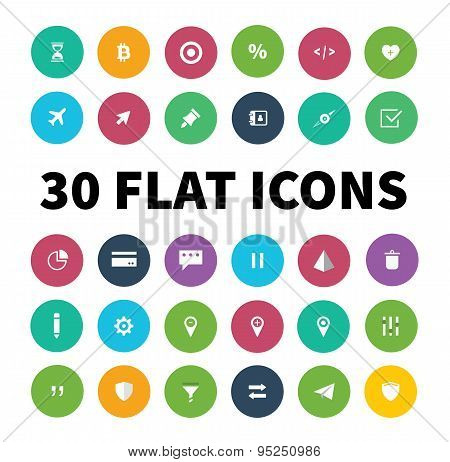 Flat Ui Kit Pack Icons For Webdesign Or Mobile Design
