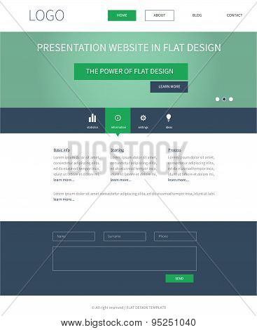 Flat Webdesign Template Concept For Presentation Website