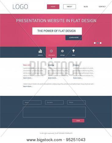 Flat Webdesign Template Concept For Presentation Website