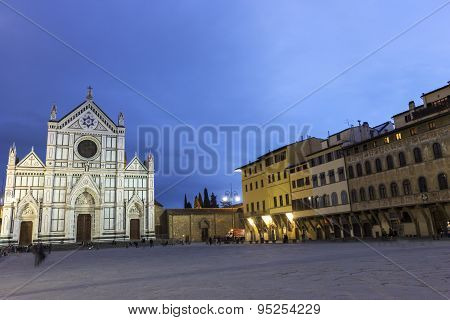 Basilica Of The Holy Cross In Florence In Italy