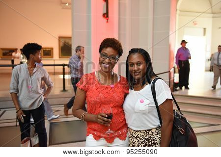 Women at Brooklyn Museum Pride reception