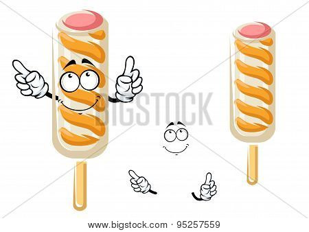 Ice cream stick cartoon character